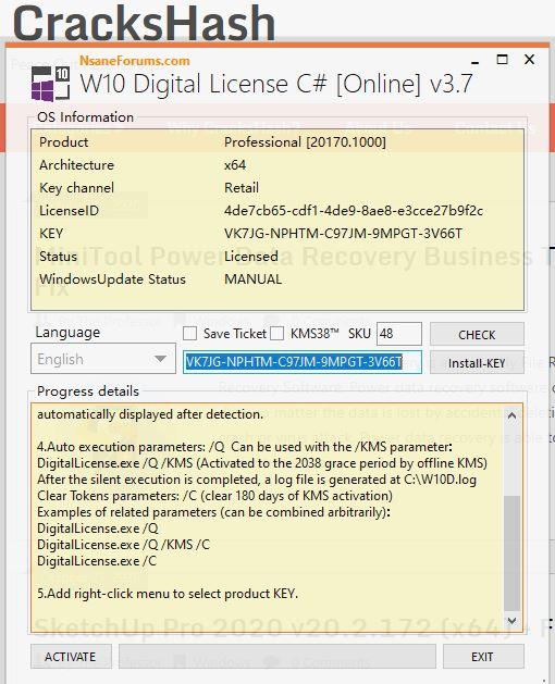Windows 10 Digital License C# v3.7   CracksHash